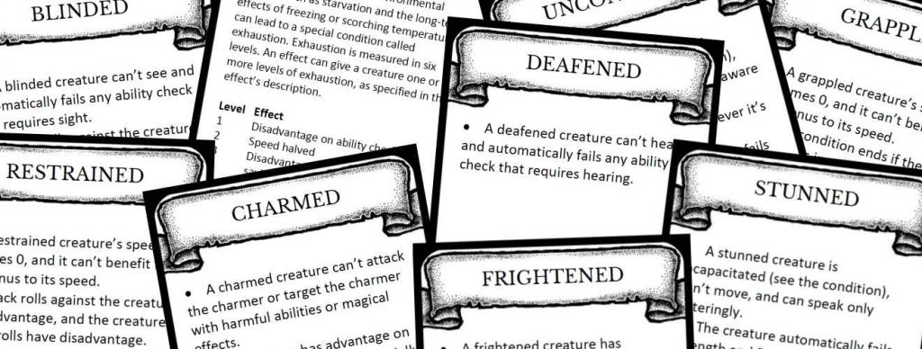 Condition Cards | DnD5e info | The 5th Edition System